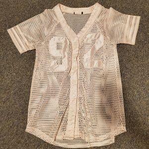 """Forever 21 """"92"""" mesh shirt"""